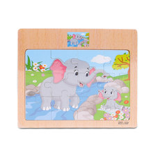 Cartoon Animal Traffic Jigsaw Puzzle Toys Wooden Board Toy Children Kids Cognitive Develop Early Education Puzzle Toys Boy Gifts(China)