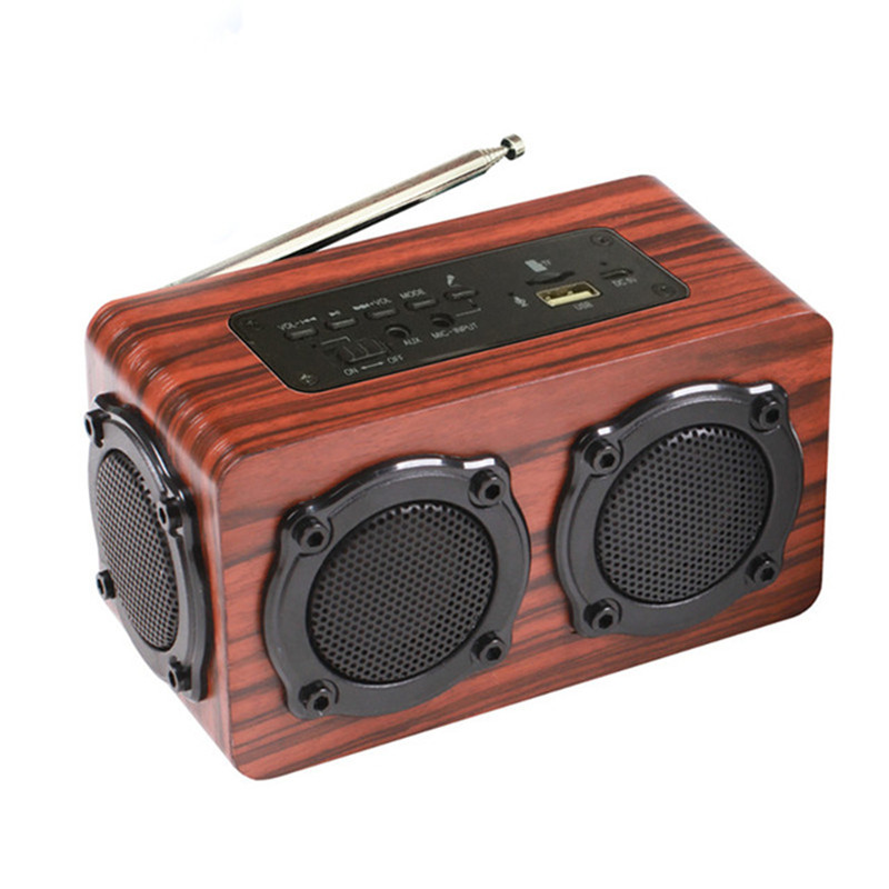 f5a07e05593 ihens5 X7 Portable Wireless Speaker Stereo Wooden Bluetooth Speakers Column  Loudspeaker with mic FM Radio TF