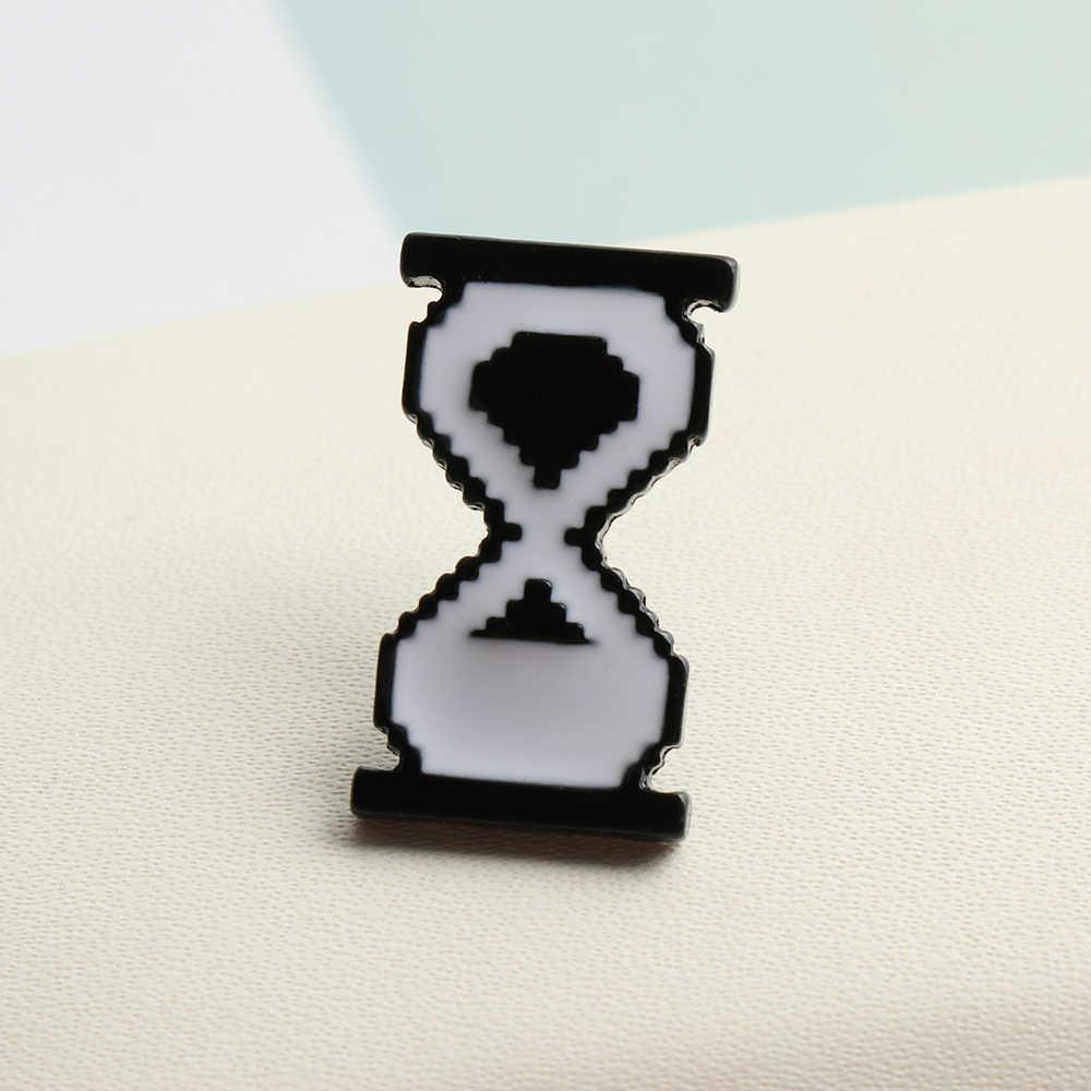 1PC אופנתי יוניסקס קריקטורה סיכת קלאסי PS AI סרגל כלים שעון חול תוויות מחשב חלון עכבר מצביע סיכות סיכות