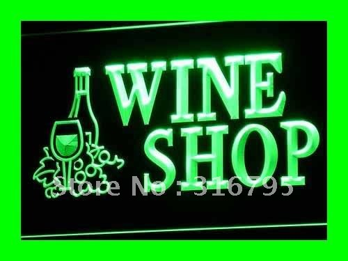 I091 OPEN Wine Shop Bar Pub Club NR LED Neon Light Light Signss On/Off Switch 20+ Colors 5 Sizes