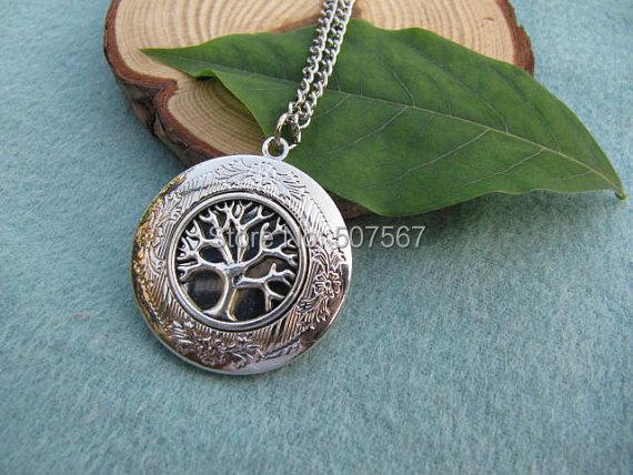 Wholesale Fashion Tree Of Life Locket Silver Locket Gift