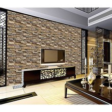 Simple Rustic Stone Brick Removable PVC Wall Roll Living Room Bedroom Restaurant Background Loft 3d Wall Paper background wall modern stacked brick 3d stone wallpaper roll grey brick wall background for living room pvc vinyl wall paper stereoscopic look