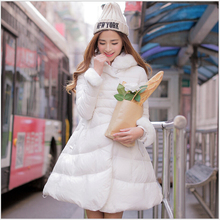 Korea Fashion New Winter Women Coat Fur collar Hooded Cloak Big yards Leisure Duck down Down jacket Slim Thick Warm Coat G2310