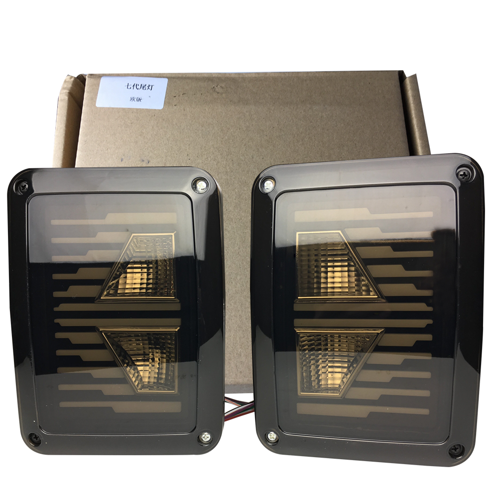 For Jeep LED Rear Tail Light Tail Lamp Replacement brake drive running reverse signal light for Jeep Wrangler 2007-2016 1pair siku внедорожник jeep wrangler с прицепом для перевозки лошадей