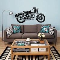 D3681バイクウォールアートステッカークラシック英語オートバイデカール車の壁紙壁画ウォールステッカー