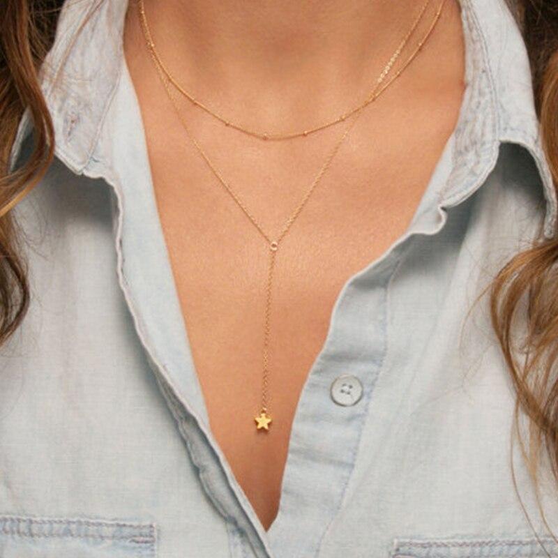 Летняя Мода ювелирные изделия полумесяц ожерелье Белла хадид с ожерелье XL317