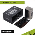 100% Original Wismec Reuleaux RX300 TC 300W Box Mod Powered by Four 18650 Batteries With Carbon Fiber And Leather Version