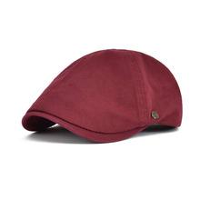 VOBOOM czerwony lato bawełna płaska czapka bluszcz czapki mężczyźni kobiety bordowy gazeciarz Cabbie kierowca jednolity kolor dorywczo kamuflaż Beret 063 tanie tanio Berety Dla dorosłych Unisex Formalne Stałe bdbl063