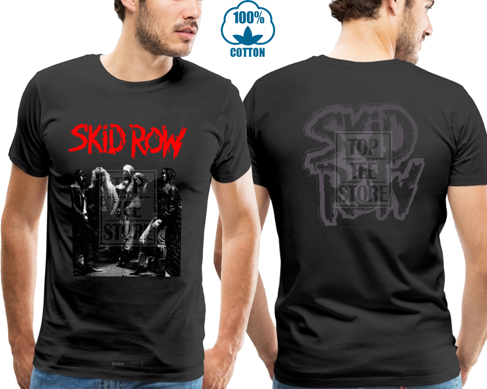 Create Custom <font><b>T</b></font> <font><b>Shirts</b></font> <font><b>Skid</b></font> <font><b>Row</b></font> American Heavy Metal Band <font><b>T</b></font> <font><b>Shirt</b></font> Sizess To 3xl Short Cotton Crew Neck <font><b>Shirts</b></font> For Men Fashion image