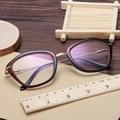 Full frame óculos de armação leve espelho plano óculos trendsetter senhoras encantadoras 1078 armações de óculos de Prescrição
