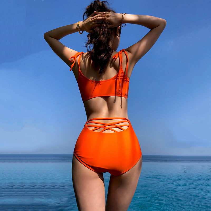 Swimsuit For Girls Tankini Swimsuits Women Push Up Two Piece Bathing Suit Swimming 2019 Covering High Waist Splitting Sexy Hair