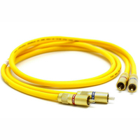Free shipping pair Van Den Hul The D 102 III HYBRID (Halogen F) Audio Cable with Gold plated RCA jack