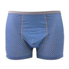 Men Cotton Mens Bodysuit Underwear Breathable Soft Dot Print Boxer Four Corner Wholesale New 2019