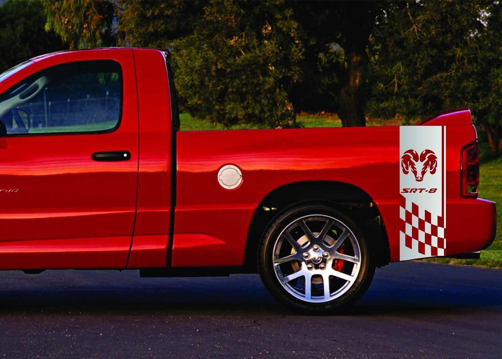 For 2 Truck Vinyl Sticker Decals Bed Stripes Dodge Ram 1500 Rt Mopar Rebel Hemi Srt8 Car Stickers Aliexpress