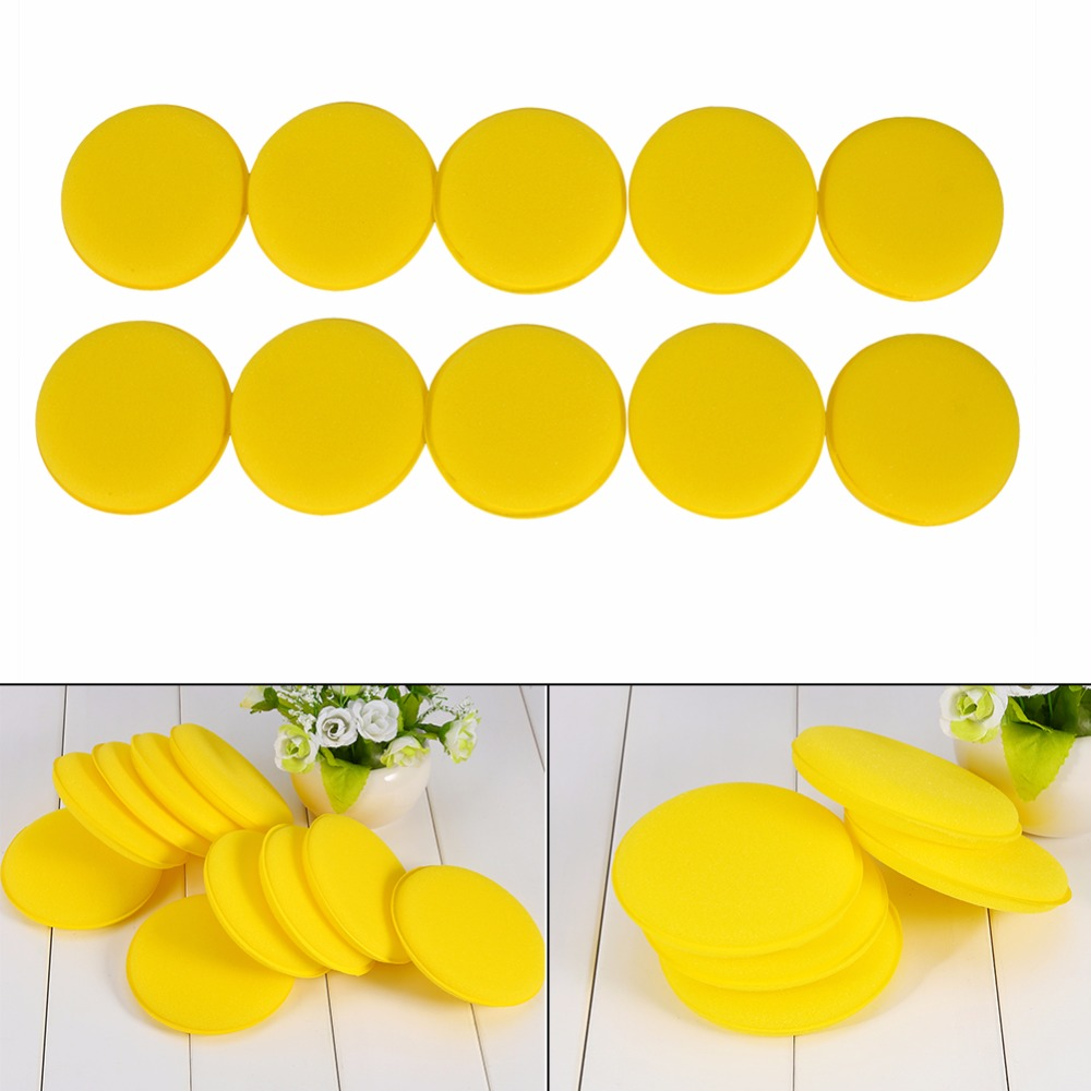 10 x Car Waxing Polish Foam Sponge Wax Applicator Cleaning Detailing Pads