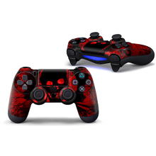 Red Skull Vinyl Skin Sticker For PS4 Controller Decal Stickers For Playstation4