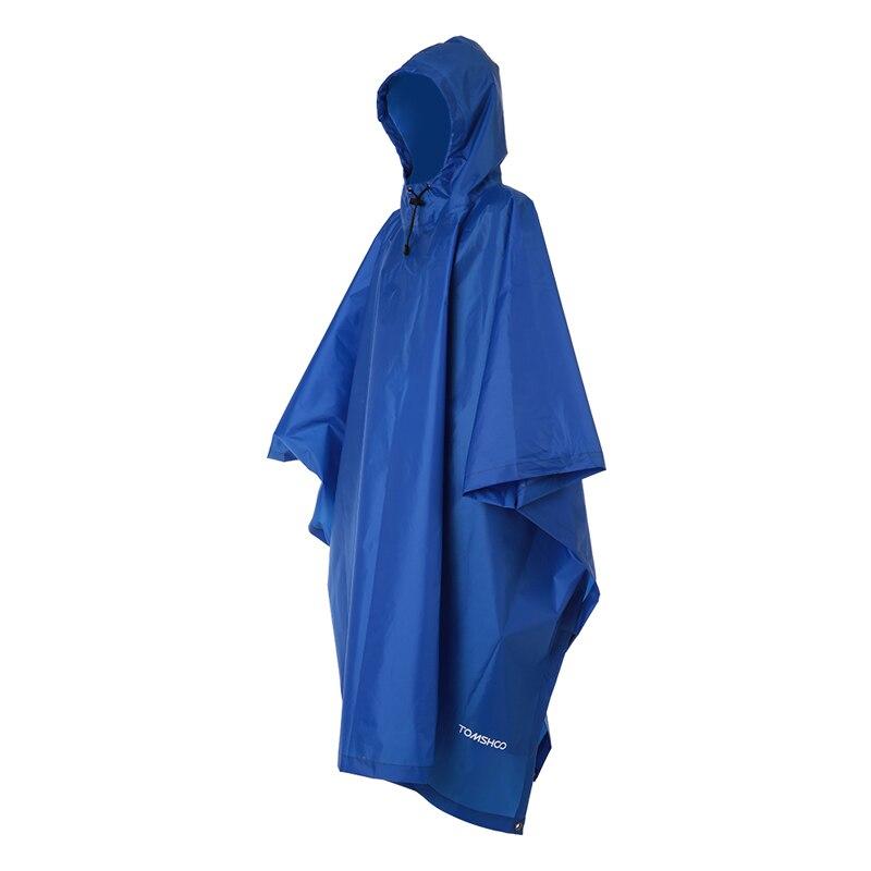 3 в 1 плащ-рюкзак дождевик капюшон для пешего туризма Велоспорт дождевик пончо водонепроницаемый тент для кемпинга коврик для палатки - Цвет: Dark  Blue