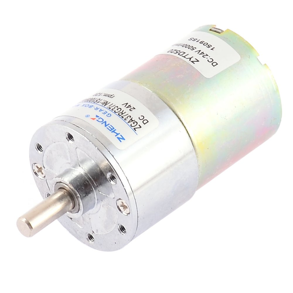 UXCELL DC 24V 0.33A 11.3kg.cm 120RPM Speed Reducing Geared Motor with 6mm Diameter Shaft and 2 Pole Connectors Hot Sale tjx45rn5 2i xz8001 dc24v 519rpm 8mm shaft diameter reducing geared motor