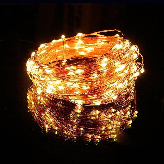 Solar Powered Colorido Tubo LED Cadena de Hadas de Luz Para El Jardín partido 100 Led 10 M TUBO impermeable RGB Hadas de la Secuencia Solar lámparas