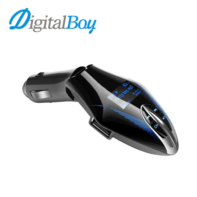 Digitalboy Car MP3 Phone Audio Player Wireless FM Transmitter Modulator Car Kit LCD Display for USB TF Card Music Car Charger