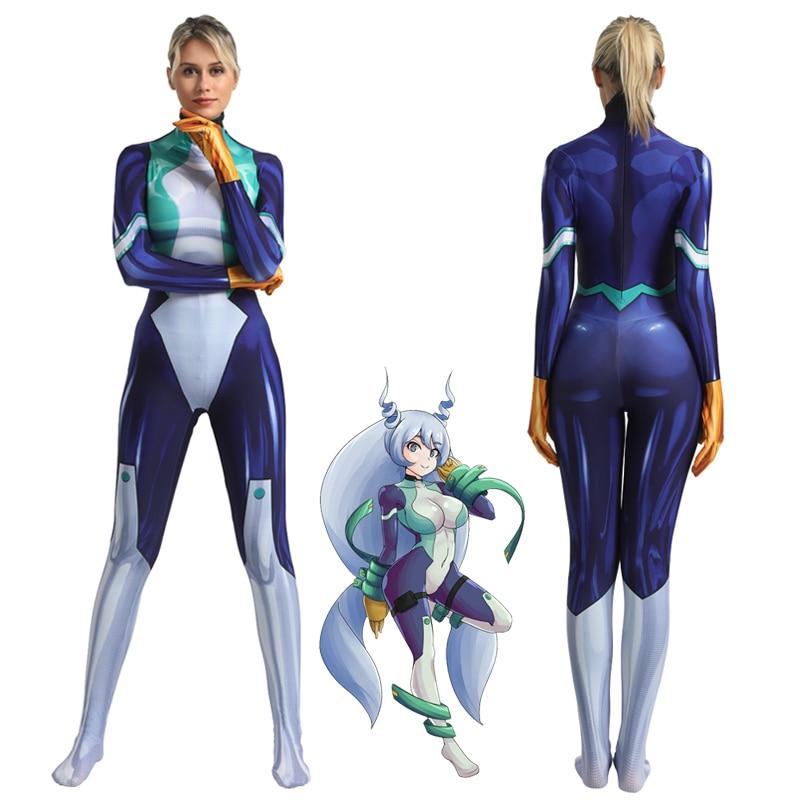Anime My Hero Academia Nejire Hado Cosplay Costume Zentai Bodysuit Adults One-Piece Suit Boku No Hero Academia Lycra Jumpsuits