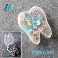 2 Cajas de Dental Home School Papelería clips de la Carpeta clips pasadores Accesorios de Oficina clip de plástico con Forma de Diente Caja