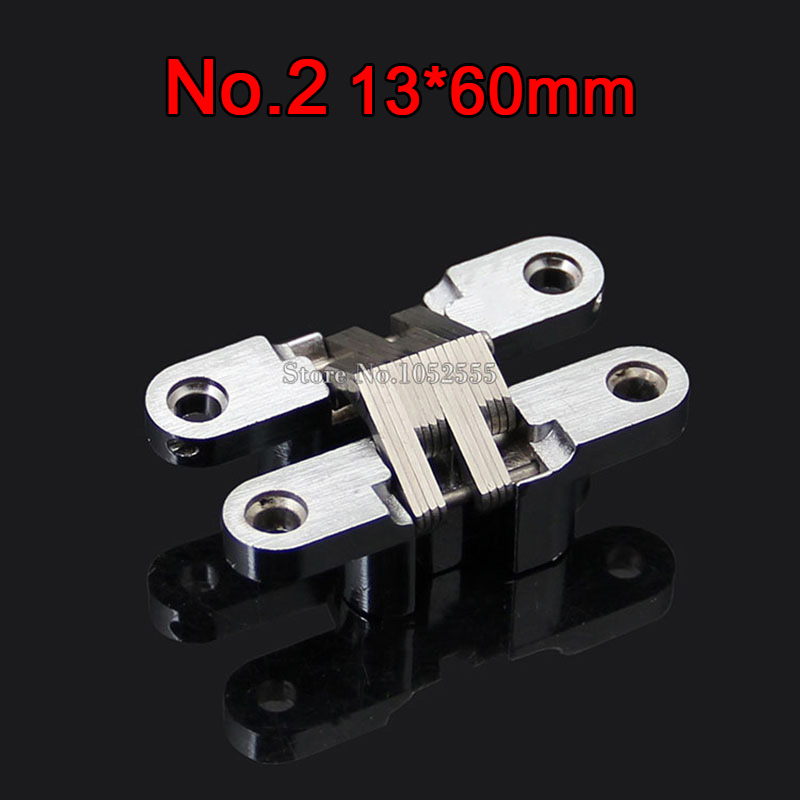 Cheap 13x60mm Invisible Concealed Cross Door Hinge Stainless Steel Hidden Hinge Bearing 10KG For Folding Door Hidden Door K96-2