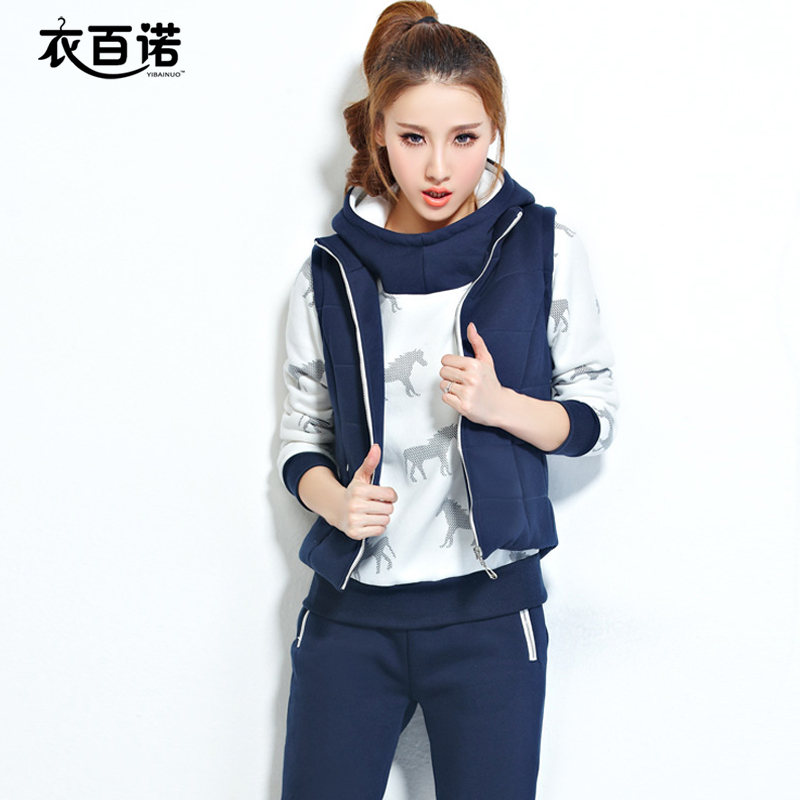 DROP SHIPP Plus Size New 2015 Autumn Hoodies Women casual Suit Pullovers Hoody Swearshirt Fleece Warm