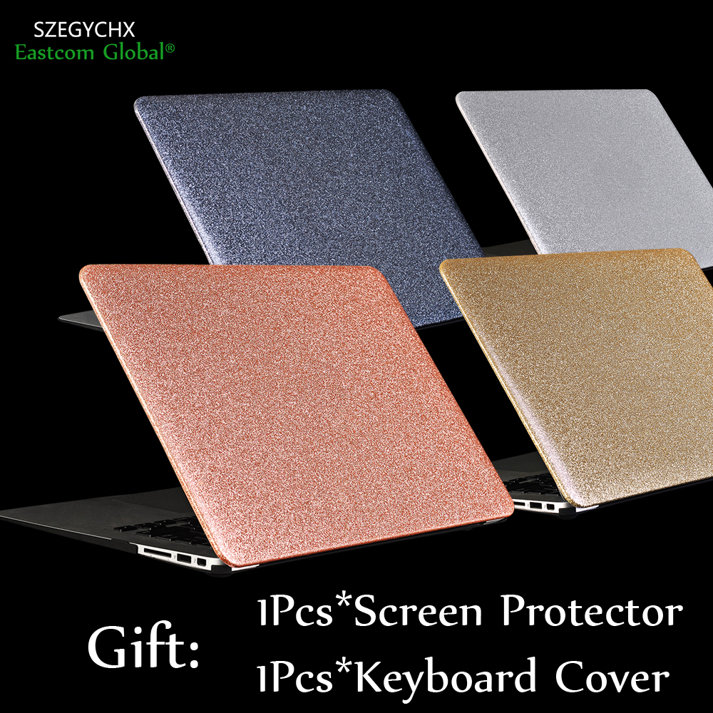SZEGYCX Shine Glitter Hard Laptop Cover Case For MacBook Air Pro Retina 11 12 13 3