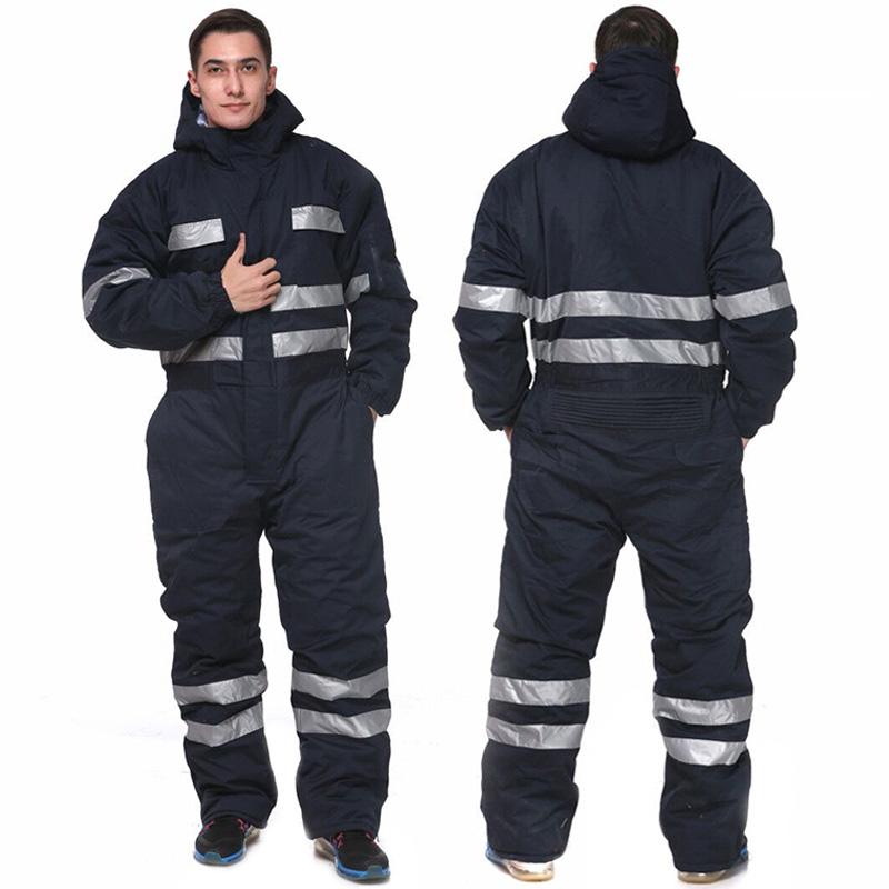 Heady duty navy blue winter coverall insulated for men work clothes Cold Weather Bib Overalls with