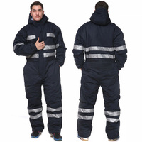 Heady duty темно синие зимний комбинезон с изоляцией для мужчин рабочая одежда холодной погоды комбинезон светоотражающие ленты