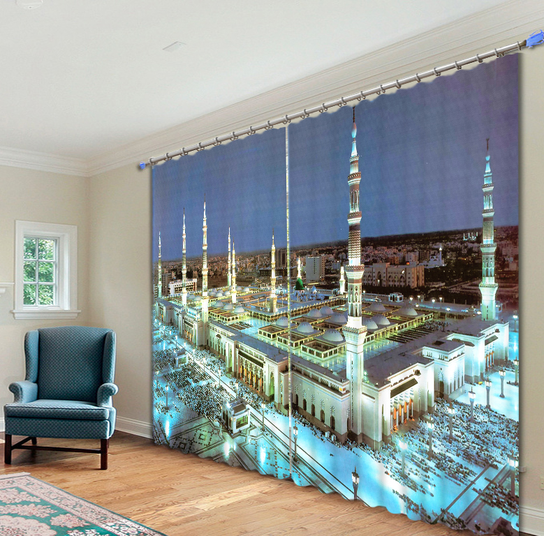 Good Price Mecca Temple Curtain 3D Galaxy Surprise Gift for Home