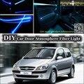 Para Hyundai Getz/Prime/Clique/TB/Brisa Inokom Afinação de Luz Ambiente interior Atmosfera Luzes Faixa de Fibra Óptica Porta painel