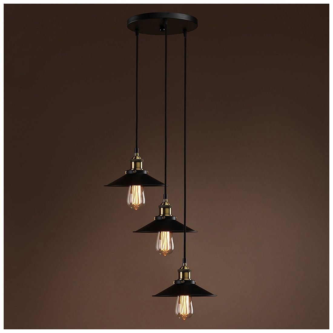 Retractable Hanging Light Vintage Loft Industrial Pendant Lights Adjustable Wire Lamps (diameter 22cm cable length 1.5m) цена 2017