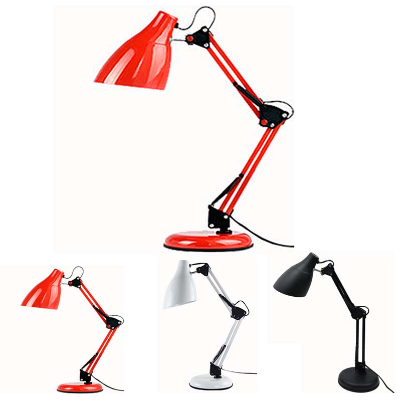 LED desk lamp LED Table Lamp Iron Morden American Foldable Long-Arm  Reading Lamp E27 Clip Office Lamp morden foldable aluminum led table lamp book reading light e27 bulb lamps for office bedroom study reading