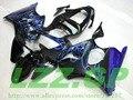 Blue flame black fairings FOR NINJA ZX 6R 636 00 01 02 ZX-6R 00-02 ZX6R 2000 2001 2002 ZX 6R 00 01 02 fairing kit d3ss