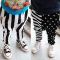 Бесплатная доставка новые приходят Одежда ребенок мужского пола брюки 2014 весна спортивная повседневная гарем брюки черные и белые полосы 0-3 В