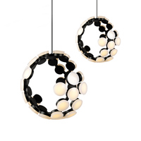 Modern Led Ceiling Light Aluminium Acrylic Shades White Or Black Painting Design Art Ceiliing Lamp Led