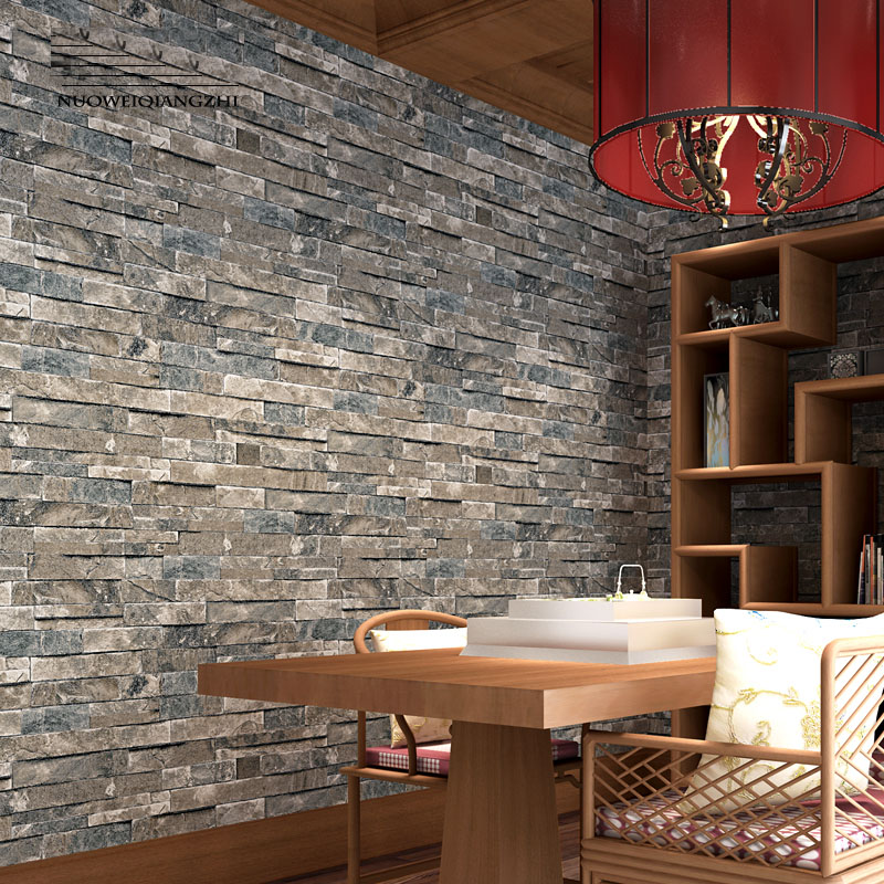 Home decor PVC Vinyl Faux Brick Stone 3d Wallpaper rolls for Living room Bathroom Chinese style Wall paper 3d wallcoverings 5m 10m living room kitchen bathroom waterproof wall sticker home decor removable vinyl pvc brick stone self adhesive wallpaper