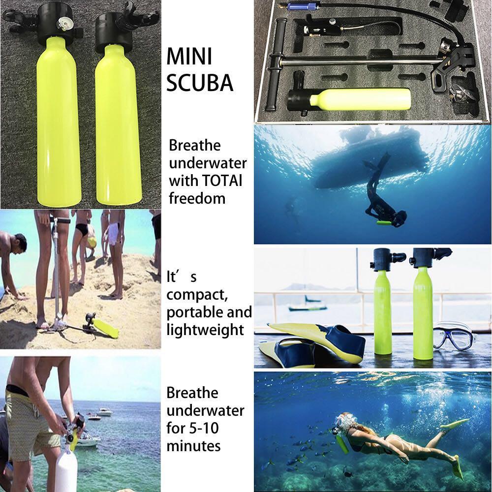 Equipo de Buceo Mini buceo cilindro de buceo tanque de oxígeno respirar bajo el agua para equipo de natación - 6