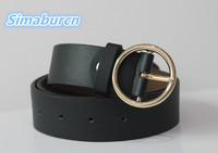 Fashion Multicolor Simple Metal Belt Women Strap Luxury Leather Female Belts For Girls Strap Students Pure