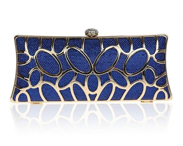 Luxury Golden Glitter Evening Bag Clutches For Women Hardware Metal Wedding Party Handbags Bridal Mini Clutch Bags SMYCWL-C0049
