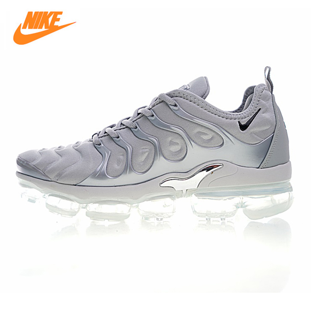 NIKE AIR VAPORMAX PLUS Men's Running Shoes, Outdoor Sneakers Shoes, Light Grey, Wear-resistant Non-slip Breathable 924453 005