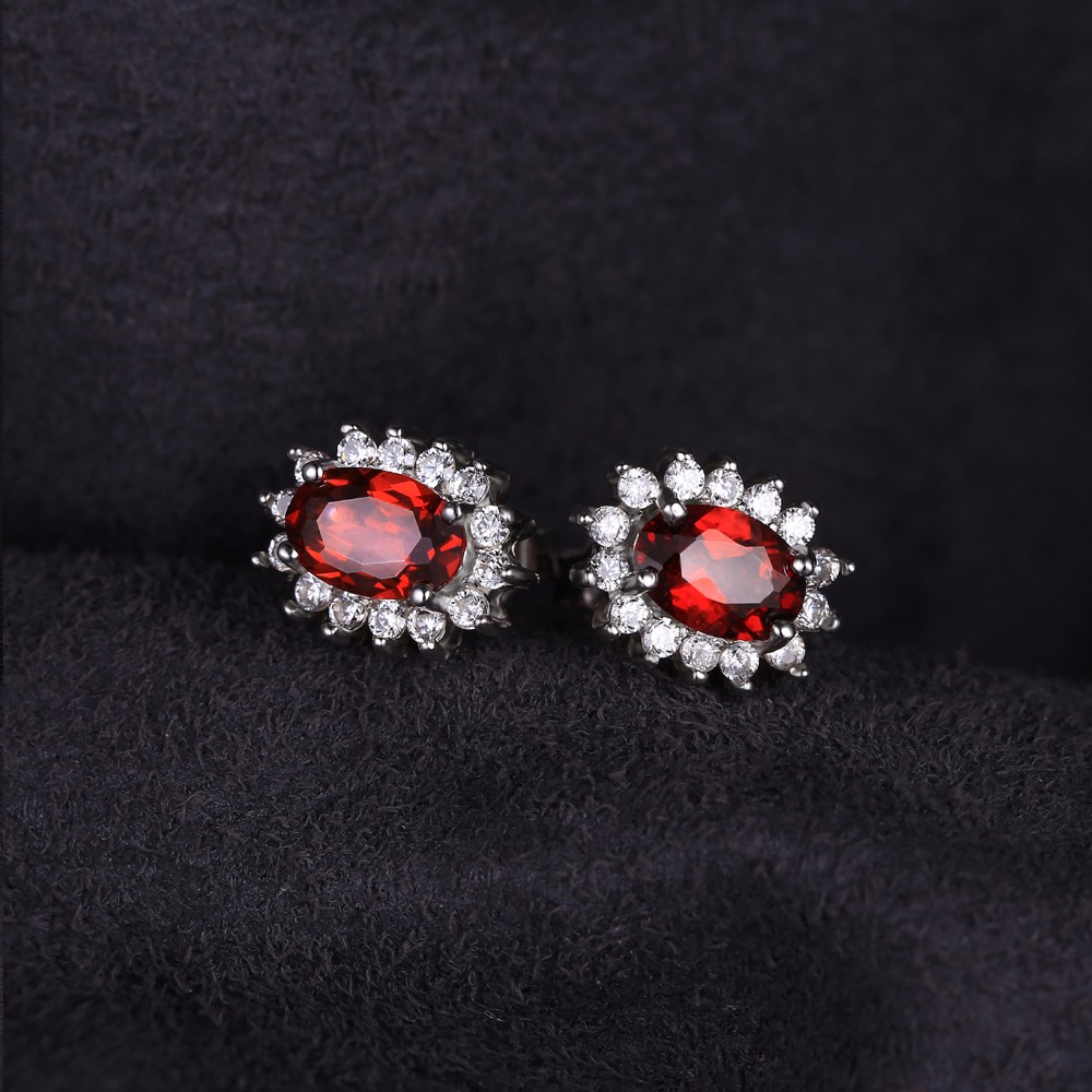 Aliexpress : Buy Jewelrypalace Princess Diana William Kate Middleton's  13ct Natural Garnet Halo Stud Earrings Solid 925 Sterling Silver Jewelry  From