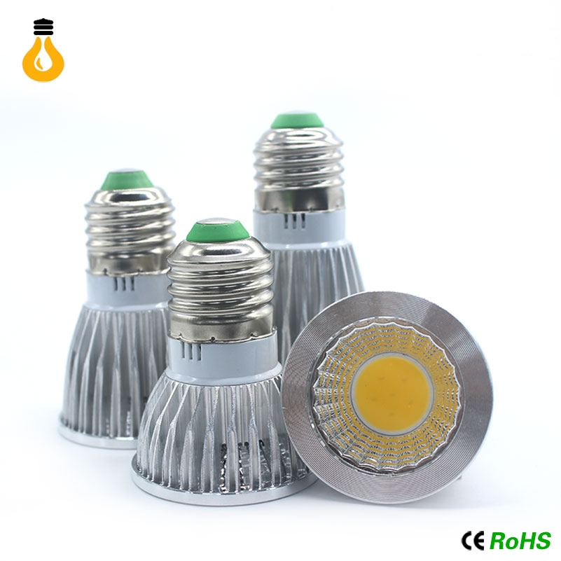 New high power lampada led e27 e14 mr16 gu10 cob 9w 9w 12w for Lampada led e14