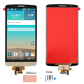 Gold LCD For LG G3 D855 D850 LCD Display + Touch Screen with Digitizer Assembly + Open Tools + Adhesive Tape , Free shipping