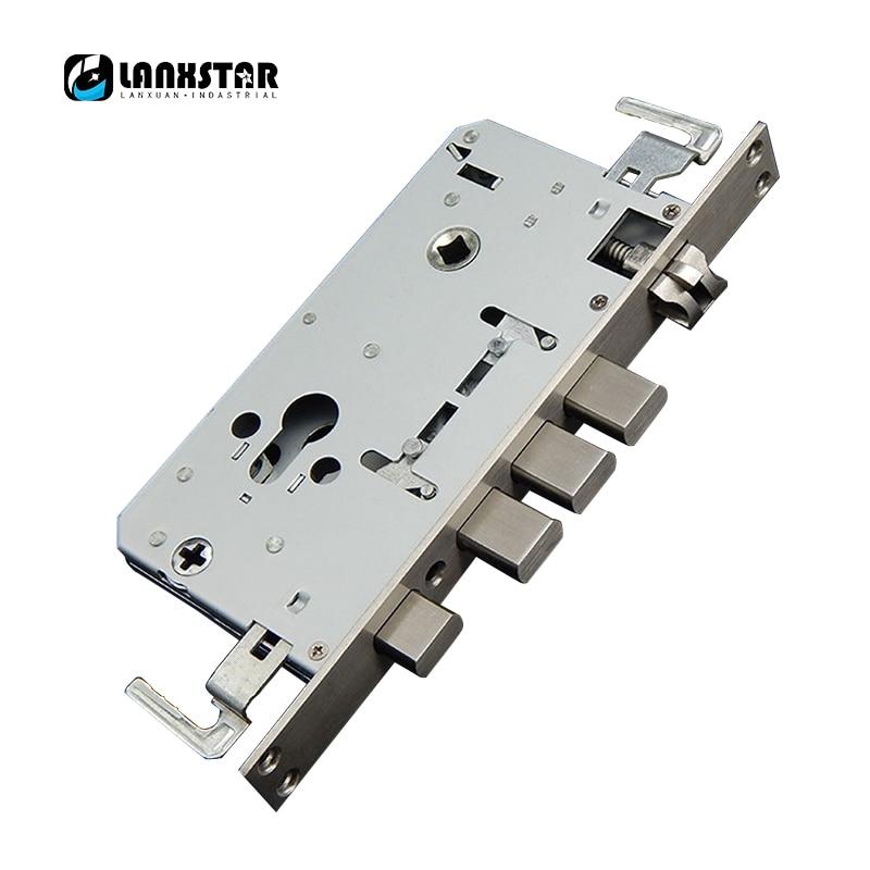 Security Door 304 Stainless Steel Lockbody Anti-theft Door Lock Body General Single/double Live Anti-insert Card Lock-body