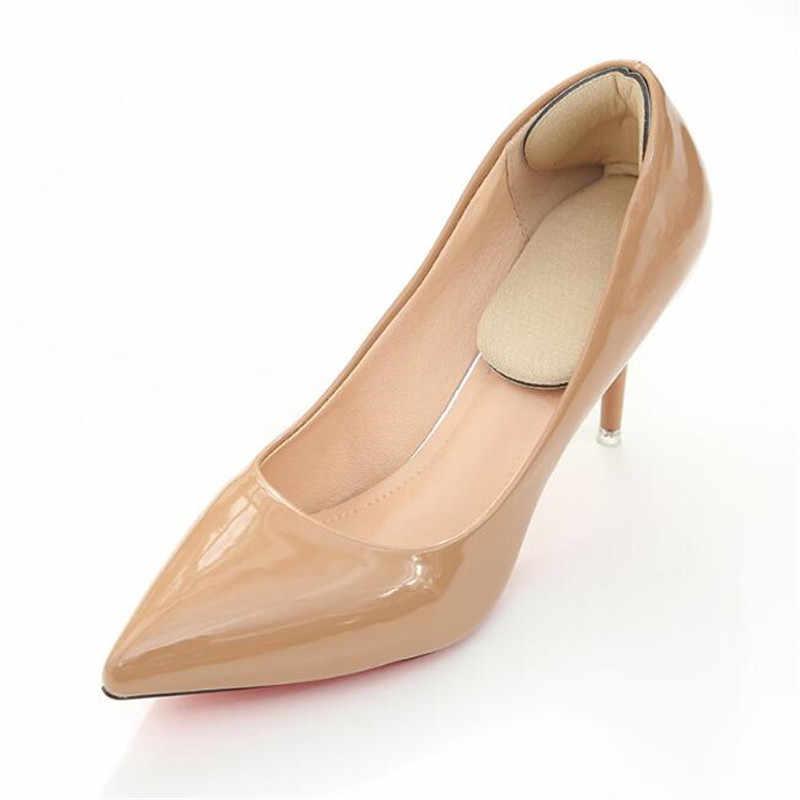 1 par Durável T-Forma de Fio Mais Grosso Desgaste Do Pé Traseiro Adesivo Anti-slip Palmilhas De Salto Alto Macio almofada Sapato Acessórios