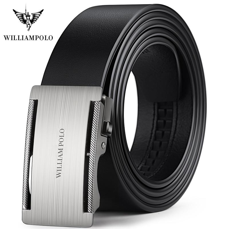 Top Brand Men's Belt Automatic Head Strap Cowskin Belt Fashion Gold Buckles Design For Men Leather Belts Men