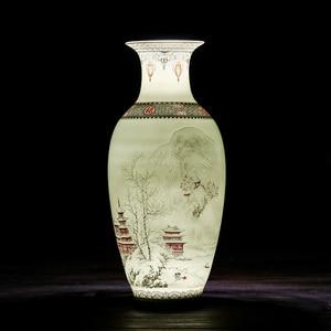 Image 5 - Antieke Jingdezhen Keramische Vaas Eierschaal Vaas Bureau Accessoires Ambachten Sneeuw Bloempot Traditionele Chinese Stijl PorcelainVase